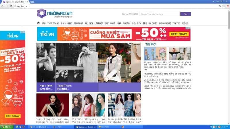 ngoisao.vn website thông tin giải trí hàng đầu tại Việt Nam