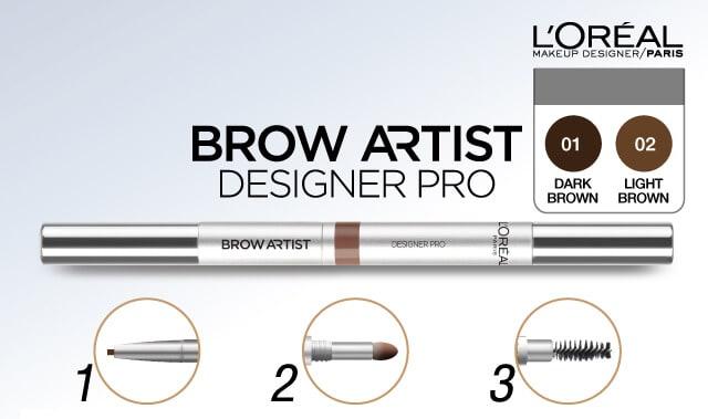 L'oreal SuperLiner Brow Artist Designer chì kẻ mày bền màu
