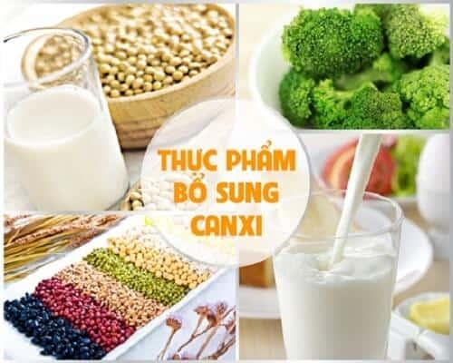 canxi nhóm thực phẩm giúp cải thiện tình trạng loãng xương