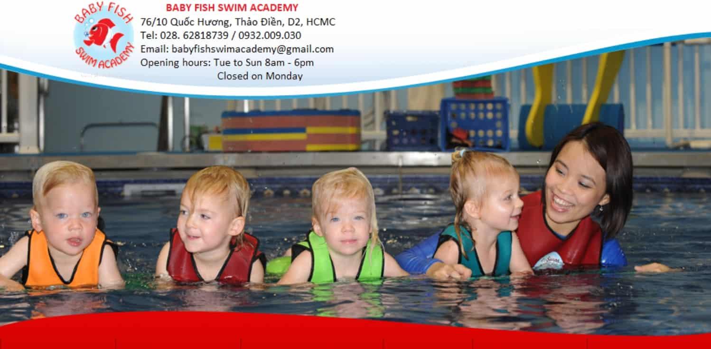 trung tâm dạy bơi chuyên nghiệp cho trẻ em