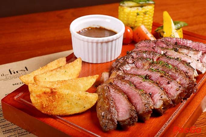 Top 5 Nhà Hàng Beefsteak Ngon, Nổi Tiếng Nhất Tại TP HCM - nhà hàng beefsteak ngon nổi tiếng - The First – Nhà Hàng Steak & Cafe 3