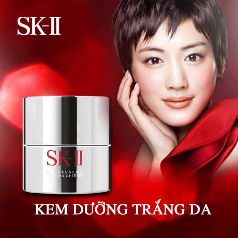 sản phẩm kem dưỡng da của thương hiệu skii
