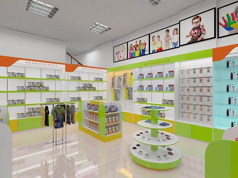thiết kế nội thất cửa hàng siêu thị