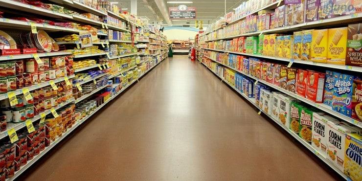 thiết kế lối đi cho các gian hàng siêu thị
