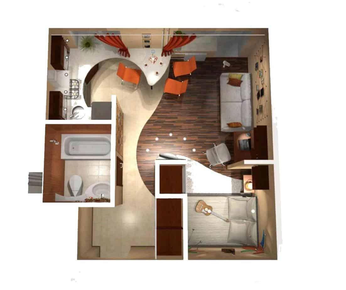 Top 17 Mẫu Thiết Kế Nội Thất 1 Phòng Ngủ Đẹp Ấn Tượng -  - Nội Thất 75