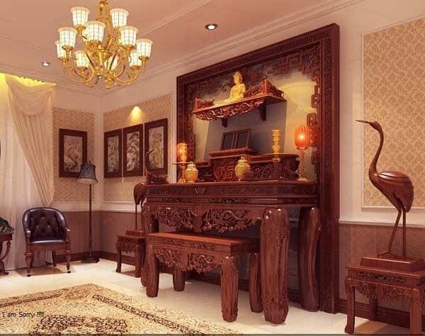 Top 10 Mẫu Thiết Kế Nội Thất Phòng Thờ Đẹp Ấn Tượng Nhất -  - Mẫu thiết kế nội thất đẹp | thiết kế nội thất phòng thờ 23