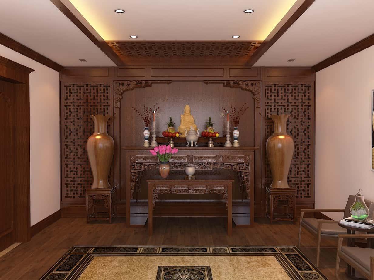 Top 10 Mẫu Thiết Kế Nội Thất Phòng Thờ Đẹp Ấn Tượng Nhất -  - Mẫu thiết kế nội thất đẹp | thiết kế nội thất phòng thờ 27