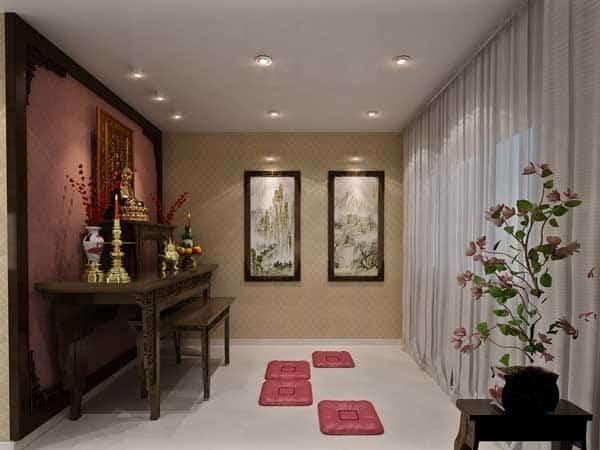 Top 10 Mẫu Thiết Kế Nội Thất Phòng Thờ Đẹp Ấn Tượng Nhất -  - Mẫu thiết kế nội thất đẹp | thiết kế nội thất phòng thờ 31