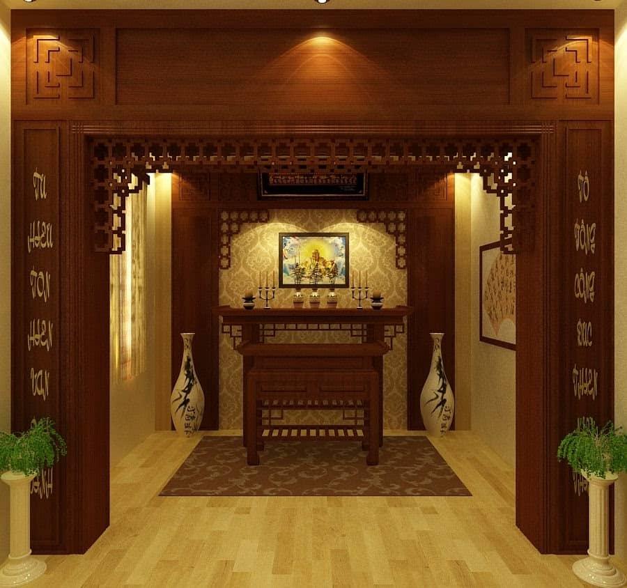 Top 10 Mẫu Thiết Kế Nội Thất Phòng Thờ Đẹp Ấn Tượng Nhất -  - Mẫu thiết kế nội thất đẹp | thiết kế nội thất phòng thờ 33