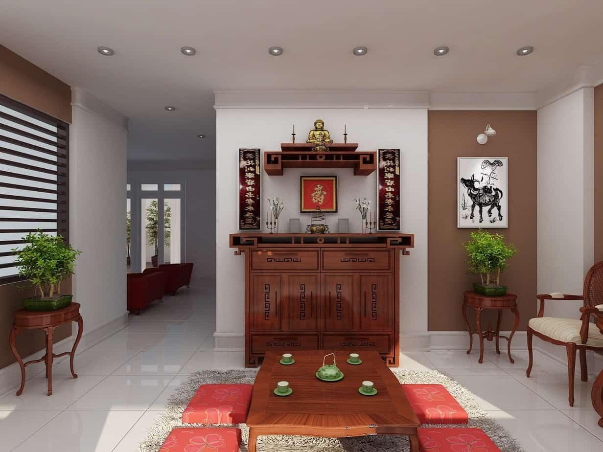 Top 10 Mẫu Thiết Kế Nội Thất Phòng Thờ Đẹp Ấn Tượng Nhất -  - Mẫu thiết kế nội thất đẹp | thiết kế nội thất phòng thờ 35