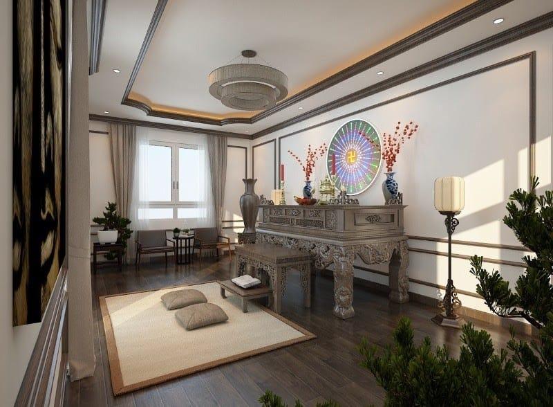Top 10 Mẫu Thiết Kế Nội Thất Phòng Thờ Đẹp Ấn Tượng Nhất -  - Mẫu thiết kế nội thất đẹp | thiết kế nội thất phòng thờ 37