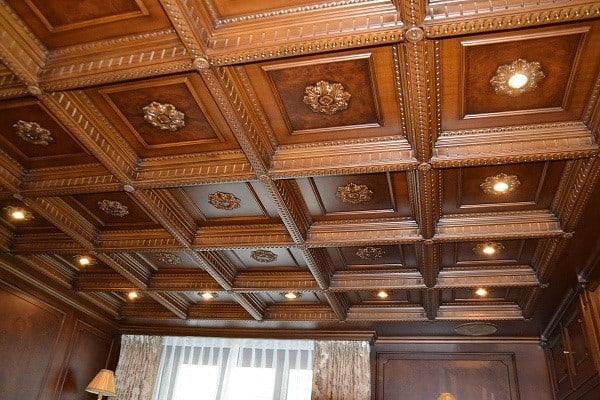 mẫu la phong gỗ trần nhà đẹp
