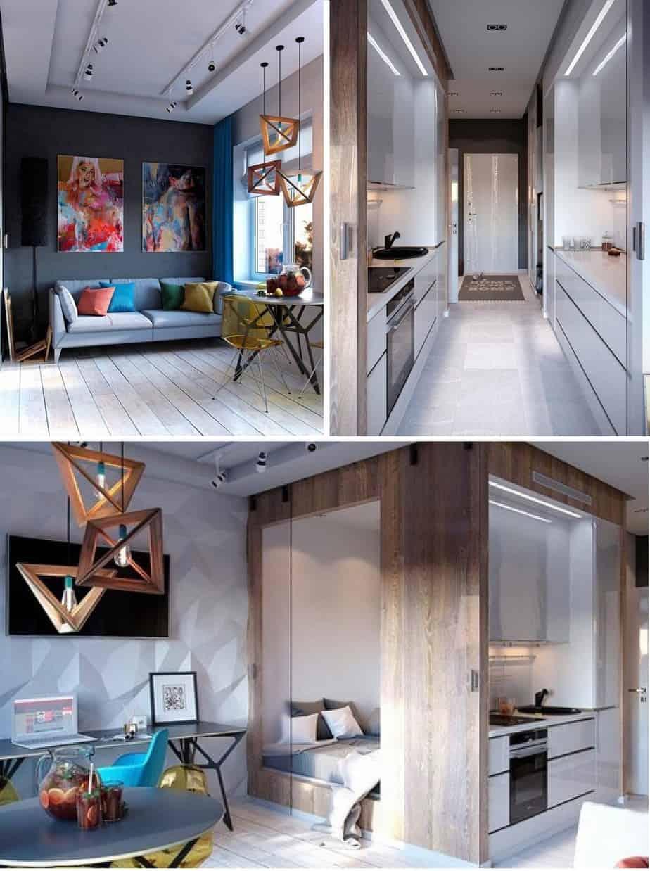 Top 20+ Mẫu Thiết Kế Nội Thất Nhà Nhỏ, Căn Hộ Nhỏ Đẹp Ấn Tượng Nhất -  - Mẫu thiết kế nội thất đẹp | nội thất cho nhà diện tích hẹp | nội thất cho nhà nhỏ 91