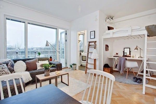 Top 20+ Mẫu Thiết Kế Nội Thất Nhà Nhỏ, Căn Hộ Nhỏ Đẹp Ấn Tượng Nhất -  - Mẫu thiết kế nội thất đẹp | nội thất cho nhà diện tích hẹp | nội thất cho nhà nhỏ 93