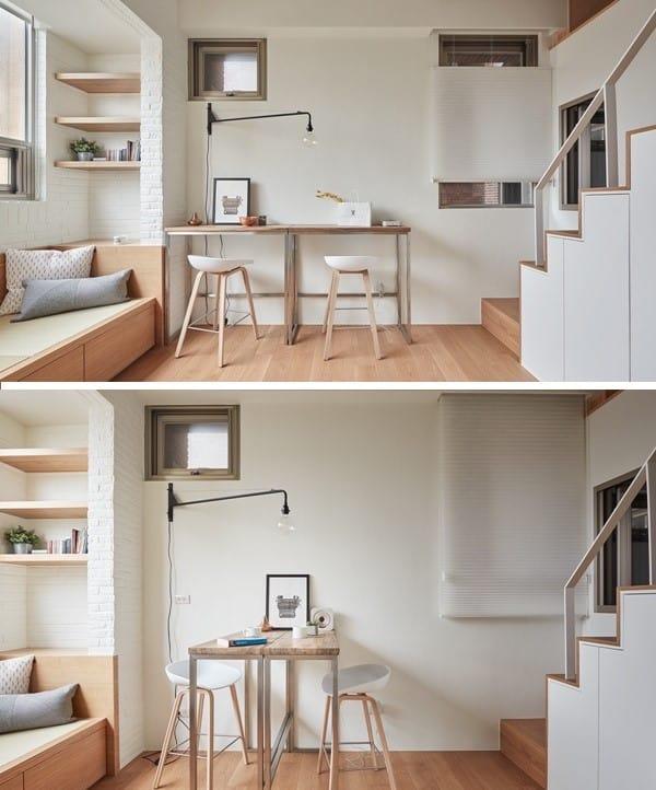 Top 20+ Mẫu Thiết Kế Nội Thất Nhà Nhỏ, Căn Hộ Nhỏ Đẹp Ấn Tượng Nhất -  - Mẫu thiết kế nội thất đẹp | nội thất cho nhà diện tích hẹp | nội thất cho nhà nhỏ 69