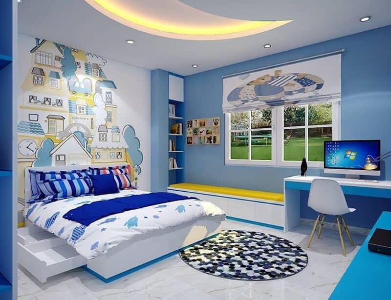 Top 30+ Mẫu Thiết Kế Nội Thất Phòng Trẻ Em (Bé Trai, Gái) Đẹp Ấn Tượng Nhất -  - mẫu phòng ngủ trẻ em đẹp | Mẫu thiết kế nội thất đẹp | mẫu thiết kế phòng ngủ đẹp 67