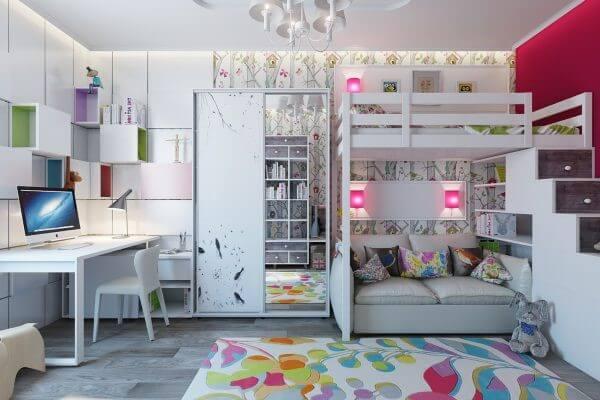 Top 30+ Mẫu Thiết Kế Nội Thất Phòng Trẻ Em (Bé Trai, Gái) Đẹp Ấn Tượng Nhất -  - mẫu phòng ngủ trẻ em đẹp | Mẫu thiết kế nội thất đẹp | mẫu thiết kế phòng ngủ đẹp 121