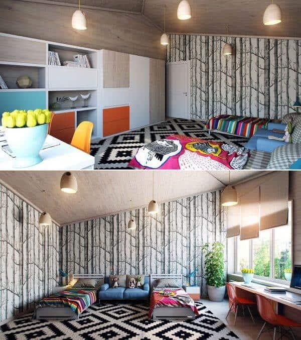 Top 30+ Mẫu Thiết Kế Nội Thất Phòng Trẻ Em (Bé Trai, Gái) Đẹp Ấn Tượng Nhất -  - mẫu phòng ngủ trẻ em đẹp | Mẫu thiết kế nội thất đẹp | mẫu thiết kế phòng ngủ đẹp 123