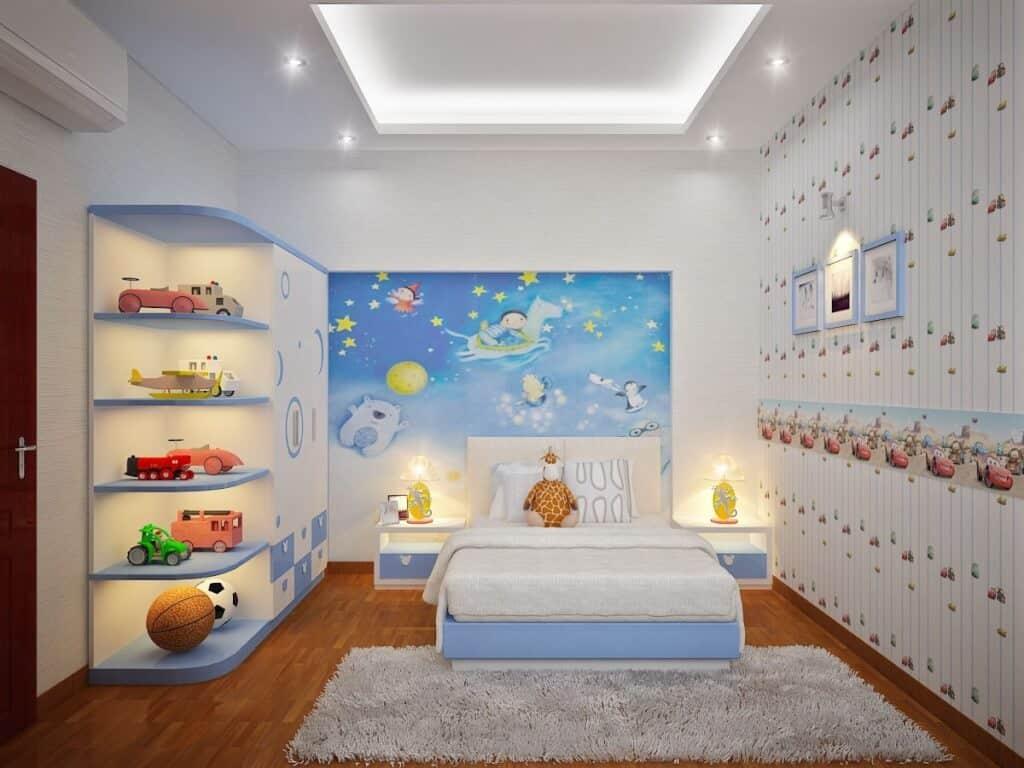 Top 30+ Mẫu Thiết Kế Nội Thất Phòng Trẻ Em (Bé Trai, Gái) Đẹp Ấn Tượng Nhất -  - mẫu phòng ngủ trẻ em đẹp | Mẫu thiết kế nội thất đẹp | mẫu thiết kế phòng ngủ đẹp 73