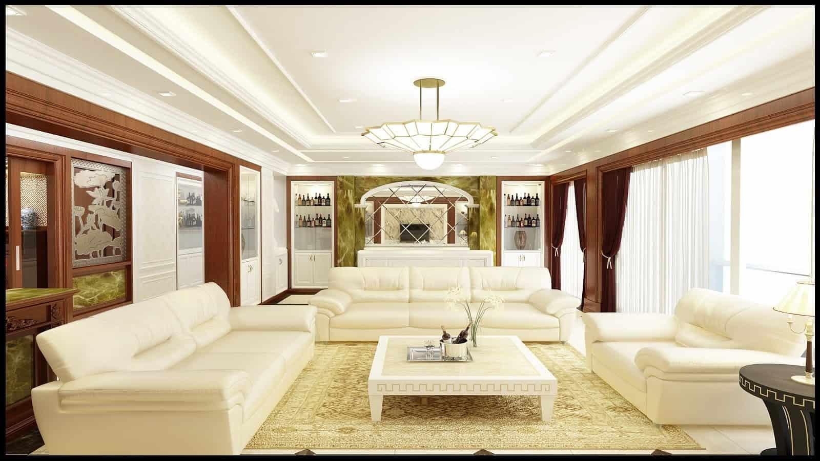 Top 20+ Mẫu Thiết Kế Nội Thất Tân - Bán Cổ Điển Đẹp Ấn Tượng Nhất -  - Mẫu thiết kế nội thất đẹp   nội thất phong cách tân bán cổ điển 51