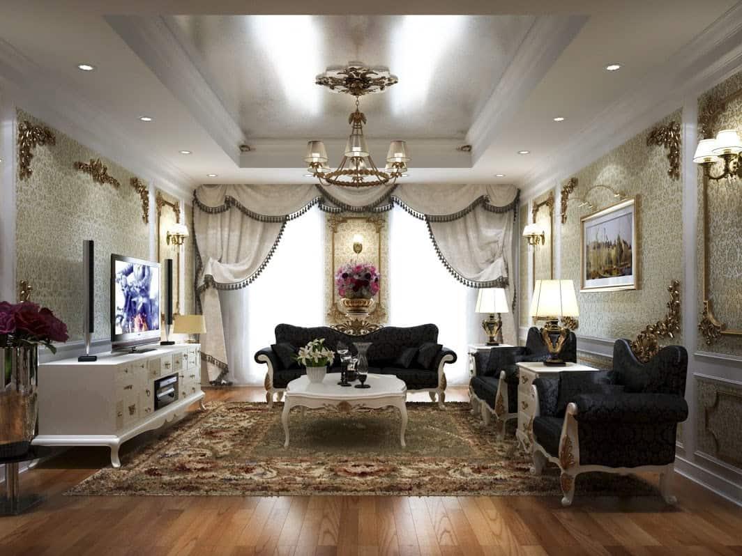 Top 20+ Mẫu Thiết Kế Nội Thất Tân - Bán Cổ Điển Đẹp Ấn Tượng Nhất -  - Mẫu thiết kế nội thất đẹp   nội thất phong cách tân bán cổ điển 59