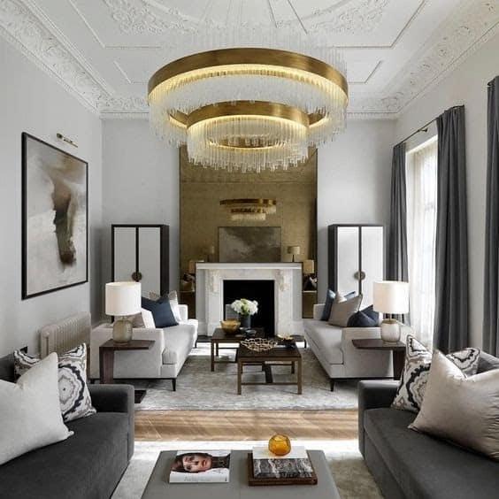 Top 20+ Mẫu Thiết Kế Nội Thất Tân - Bán Cổ Điển Đẹp Ấn Tượng Nhất -  - Mẫu thiết kế nội thất đẹp   nội thất phong cách tân bán cổ điển 63