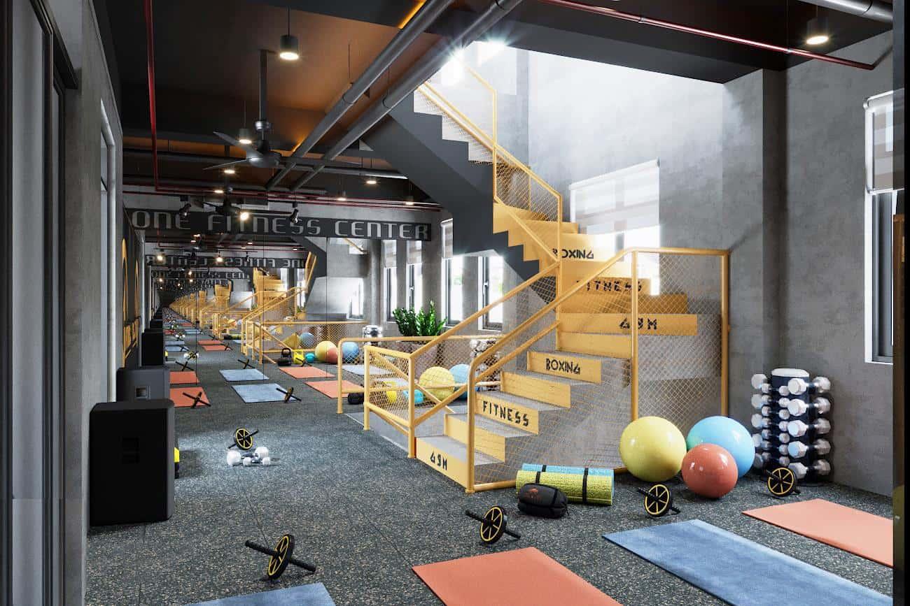 Top 20 Mẫu Thiết Kế Nội Thất Phòng Tập Thể Dục, Gym Đẹp Ấn Tượng -  - Mẫu thiết kế nội thất đẹp | thiết kế phòng tập gym | thiết kế phòng tập thể dục 56