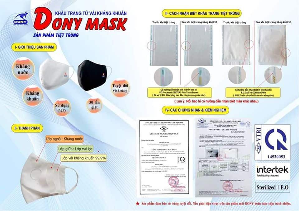 Review Khẩu Trang Vải Tiệt Trùng Dony Mask - Giải Pháp Cho Thời Đại Dịch Bệnh, Ô Nhiễm Môi Trường -  - Khẩu Trang Thương Hiệu Dony Mask | khẩu trang vải tiệt trùng 11
