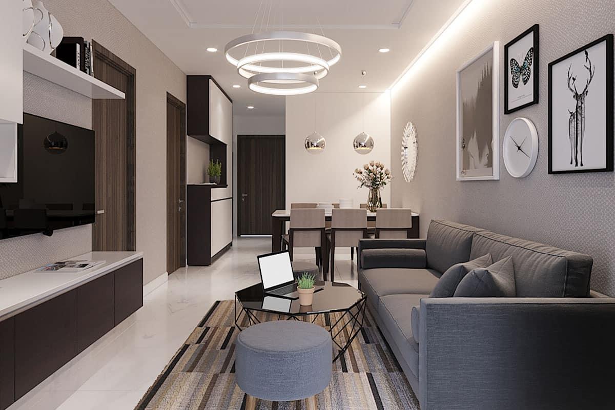 thiết kế nội thất Saigon South Residences