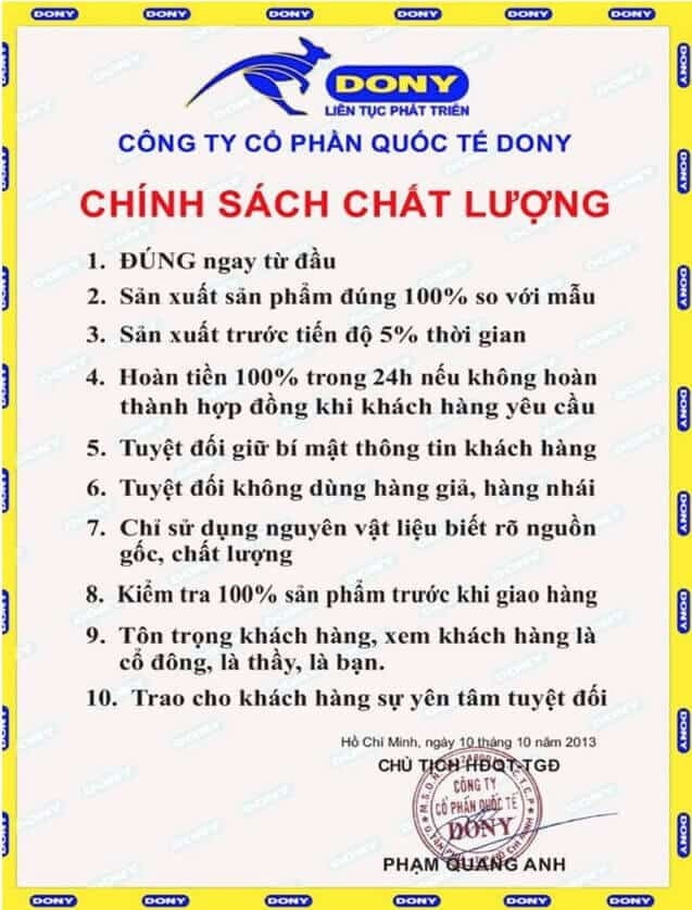 chai se ve chat luong dich vu cong ty may dong phuc dony