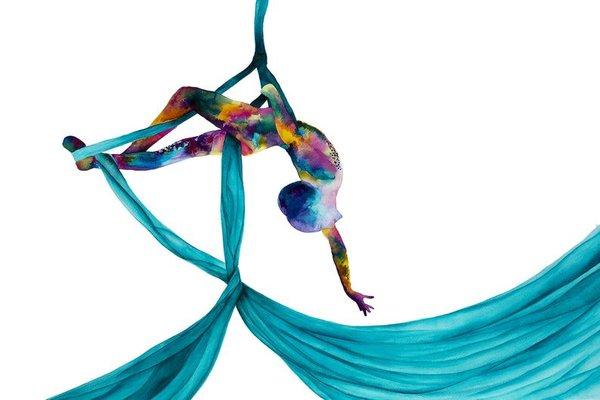 học múa lụa ở TDT Event