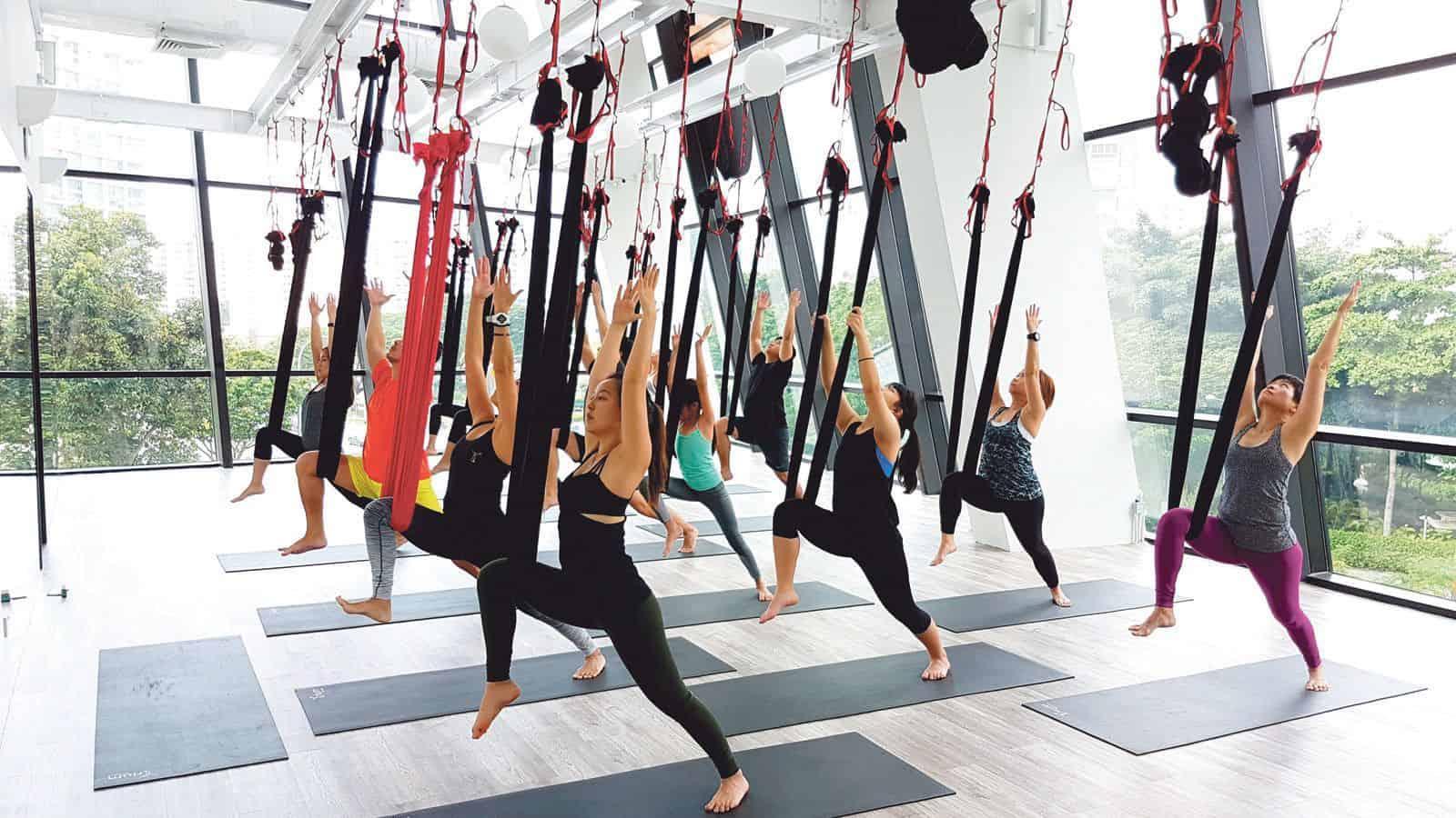 lớp học yoga bay uy tín tại Đà Nẵng