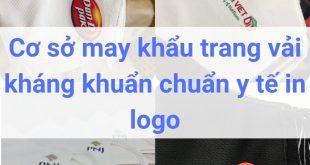 Cơ sở may khẩu trang vải kháng khuẩn chuẩn y tế in logo