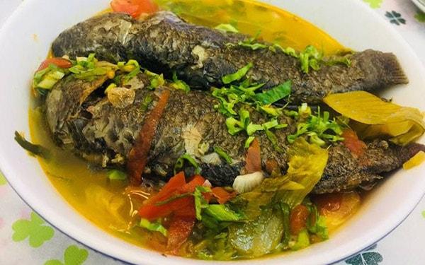 Canh chua cá rô đặc sản món ngon Ninh Bình